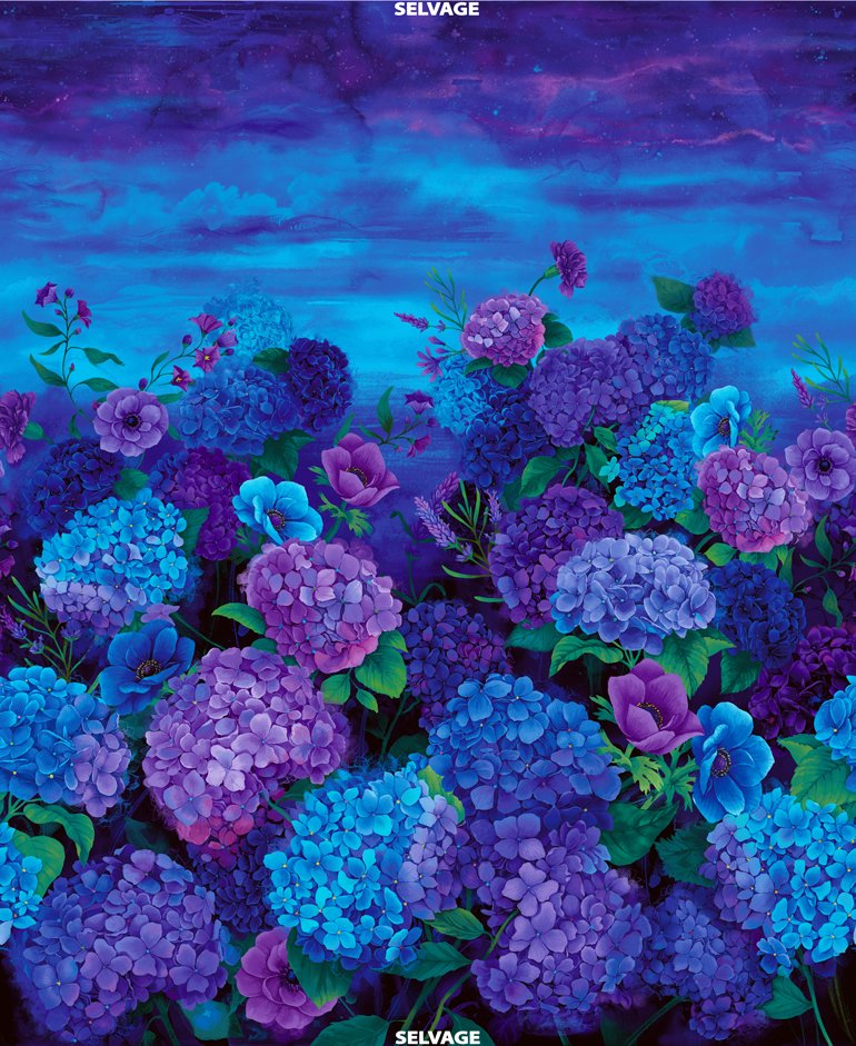 Misty Hydrangea CD6836 36 Panel by Chong-a Hwang for Timeless Treasures