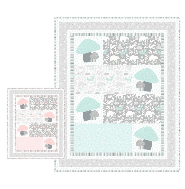 Sweetie Quilt Kit with Hello Little One Fabric Collection