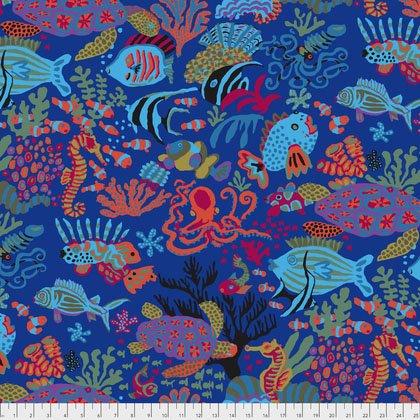 Kaffe Fassett Scuba PWBM064.BLUEX from Free Spirit Fabrics