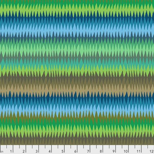 Kaffe Fassett Collective Diamond Stripe PWGP170.GREEN from Free Spirit Fabrics