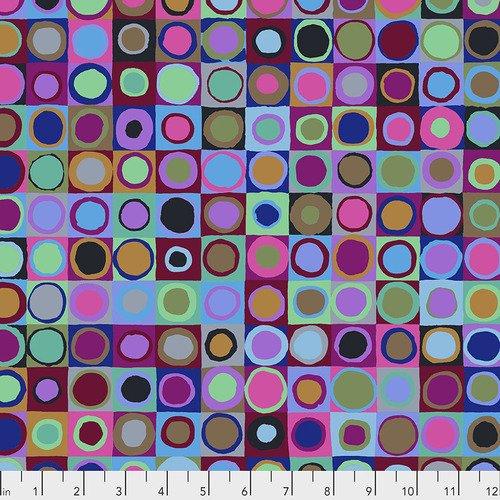 Kaffe Fassett Tiddlywinks PWGP171.BLUEX from Free Spirit Fabrics