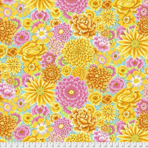 Kaffe Fassett Collective Enchanted PWGP172.YELLO from Free Spirit Fabrics