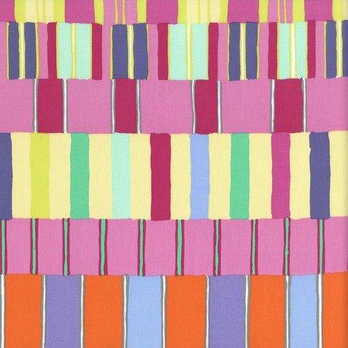 Kaffe Fassett Artisan PWKF003.PINKX Layered Stripe from Free Spirit Fabrics