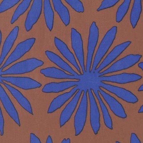 Kaffe Fassett Artisan PWKF006.BROWN Gerbera from Free Spirit Fabrics