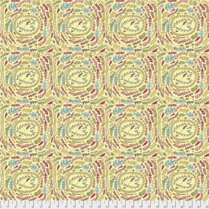 The Dress PWLH003 Yellow Fern by Laura Heine for Free Spirit Fabrics
