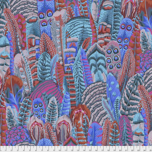 Kaffe Fassett Collective Feathers PWPJ055.TURQU from Free Spirit Fabric
