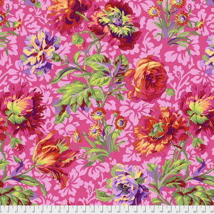 Kaffe Fassett Baroq Floral Red PWPJ090.REDXX from Free Spirit Fabrics