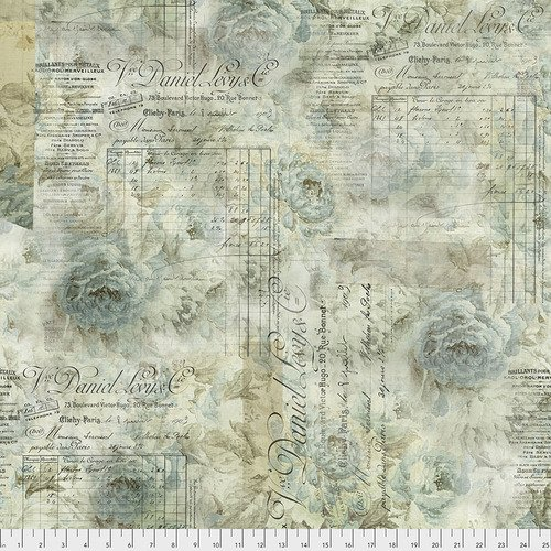 Memoranda PWTH102 Aqua Receipt by Tim Holtz for Free Spirit