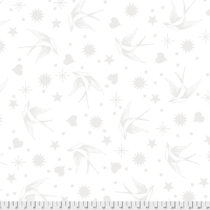 Linework PWTP157 Fairy Flakes White by Tula Pink for FreeSpirit