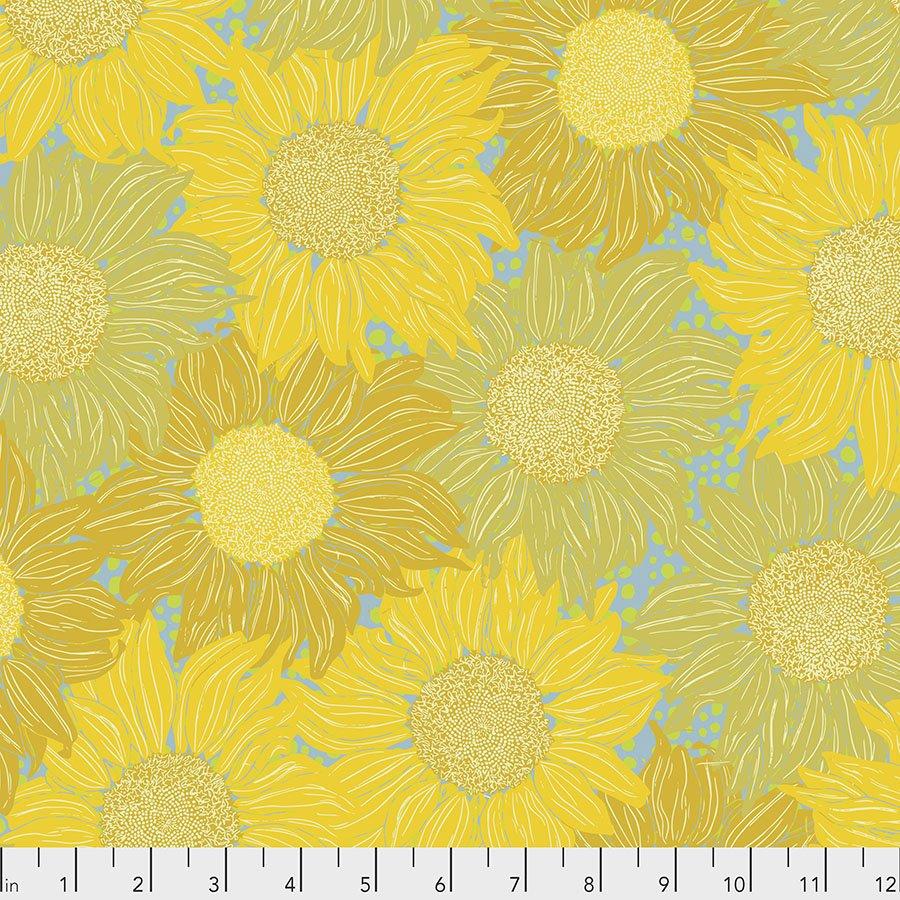 Murmur PWVW002.GOLD Sunflower by Valori Wells for Free Spirit