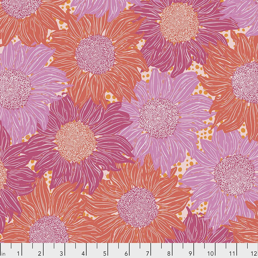 Murmur PWVW002.PINK Sunflower by Valori Wells for Free Spirit