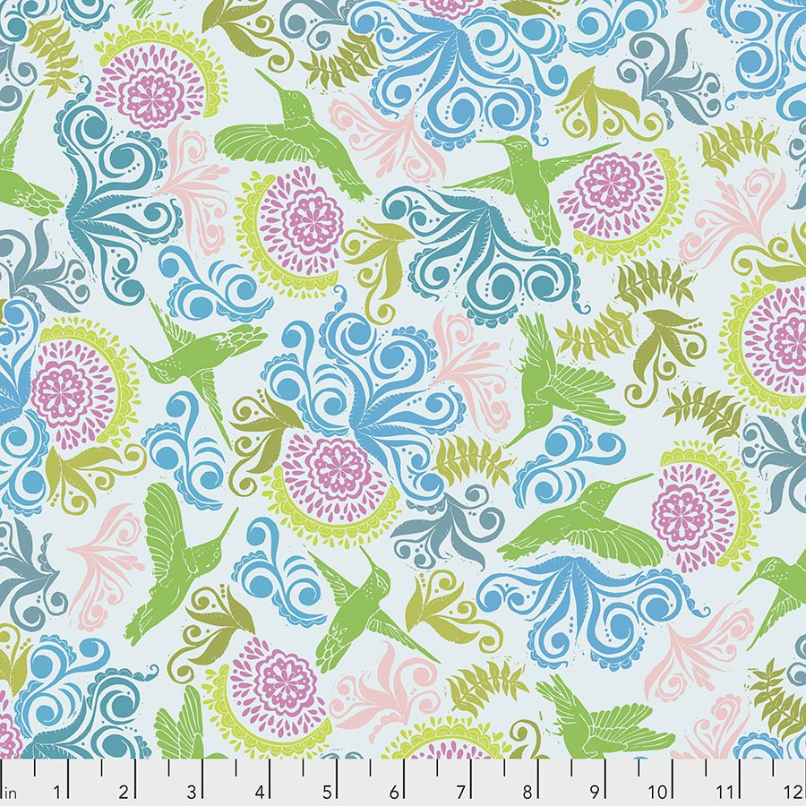 Murmur PWVW005.LIME Garden by Valori Wells for Free Spirit