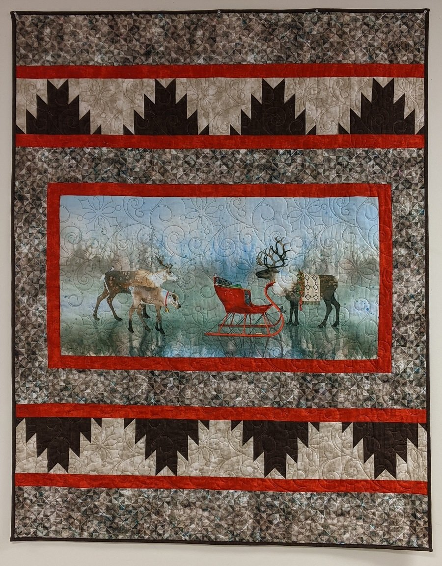 Gathering Quilt Kit designed by Sugar Pine Quilt Designs for Villa Rosa
