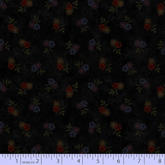 Primitive Traditions 71005-0112 Black by Pam Buda for Marcus Fabrics