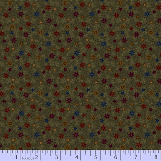 Primitive Traditions 71006-0116 Green by Pam Buda for Marcus Fabrics