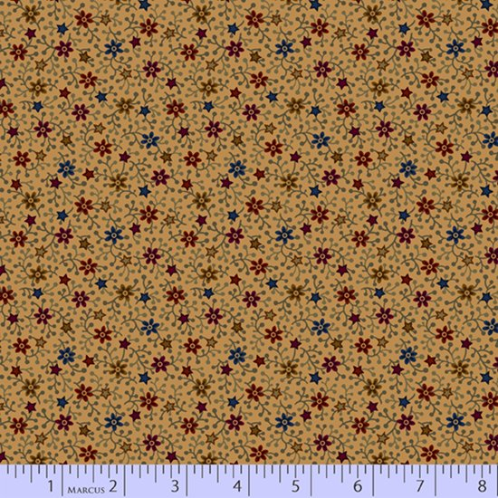 Primitive Traditions 71006-0142 Cream by Pam Buda for Marcus Fabrics