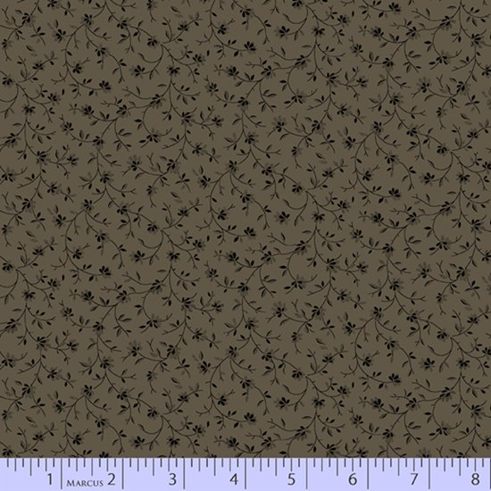 Primitive Traditions 71007-0138 Grey by Pam Buda for Marcus Fabrics