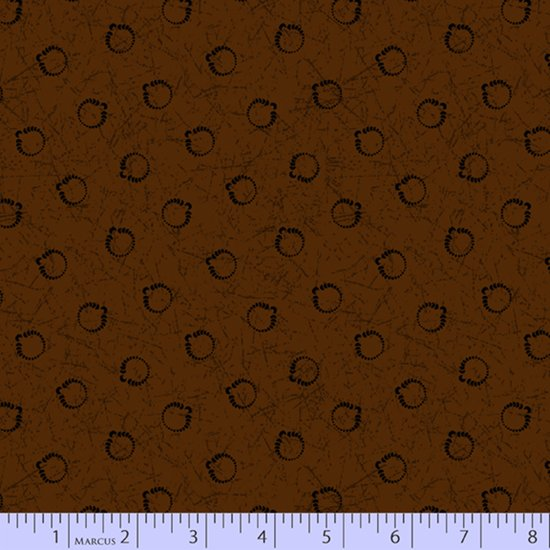 Primitive Traditions 71008-0113 Brown by Pam Buda for Marcus Fabrics