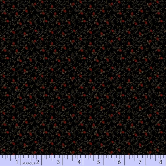 Primitive Traditions 71009-0112 Black by Pam Buda for Marcus Fabrics
