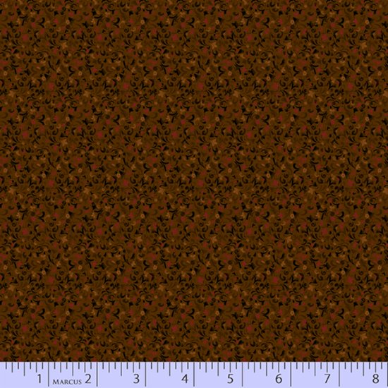 Primitive Traditions 71011-0113 Brown by Pam Buda for Marcus Fabrics