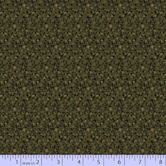 Primitive Traditions 71011-0116 Green by Pam Buda for Marcus Fabrics