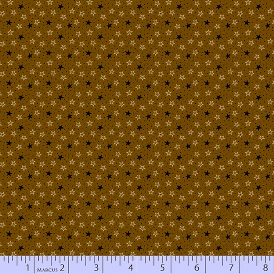 Primitive Traditions 71012-0113 Brown by Pam Buda for Marcus Fabrics