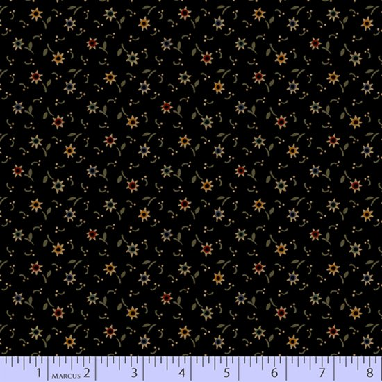 Primitive Traditions 71013-0112 Black by Pam Buda for Marcus Fabrics