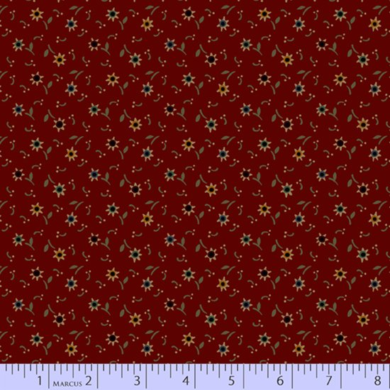 Primitive Traditions 71013-0123 Red by Pam Buda for Marcus Fabrics
