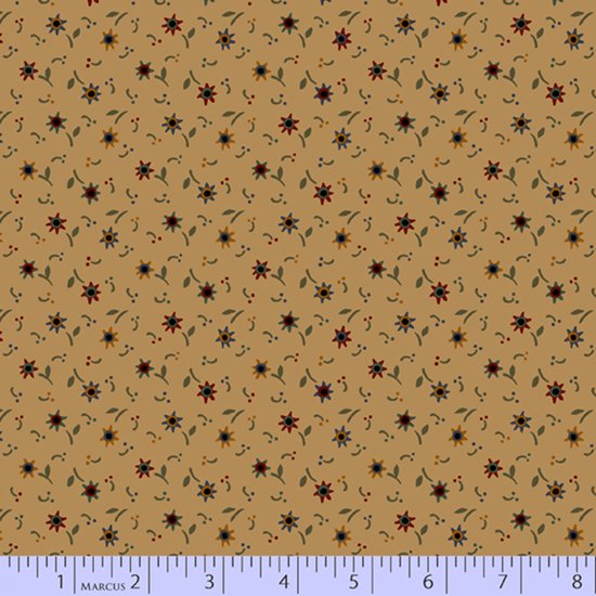 Primitive Traditions 71014-0141 Tan by Pam Buda for Marcus Fabrics