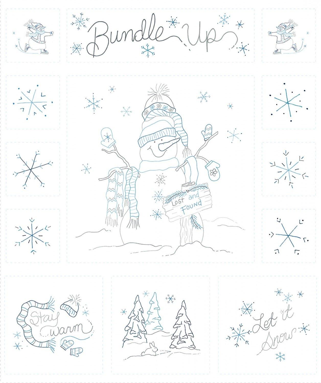 Bundle Up Snowman Panel from Marcus Fabrics