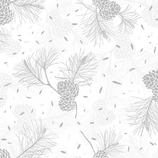 Sparkle and Fade R4567-3S-White-Silver Hoffman Fabrics