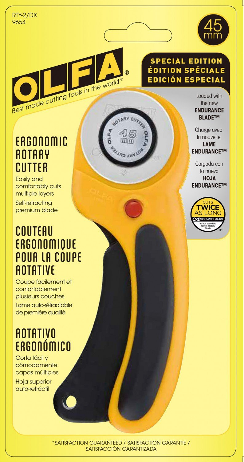 Olfa 45 mm Rotary Cutter with Ergonomic Handle