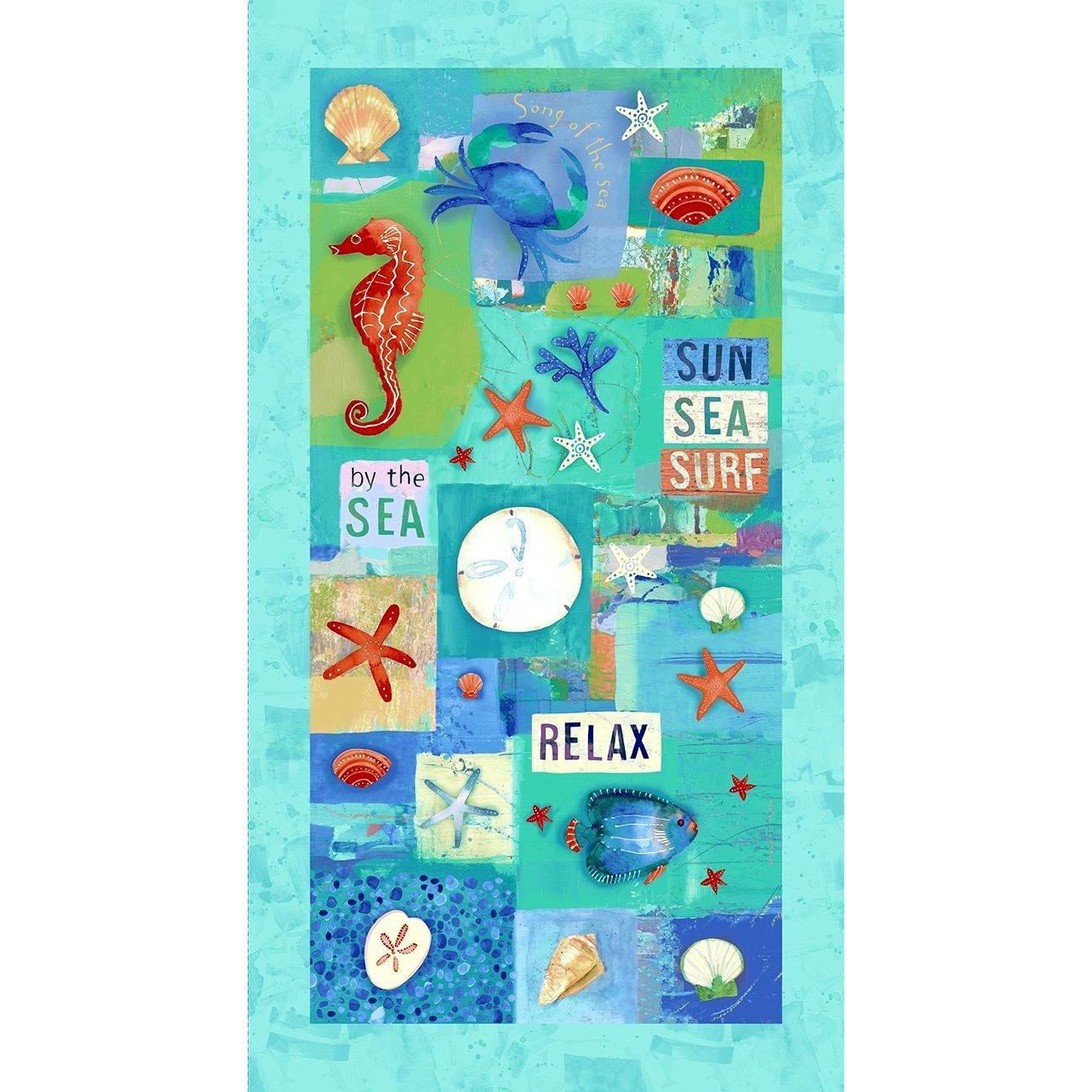 Sanibel Y3204-55 Panel by Sue Zipkin for Clothworks