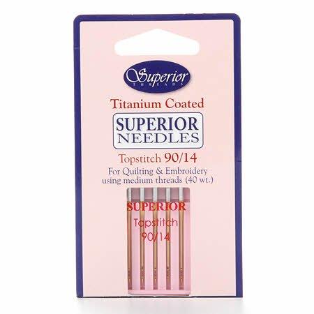 Needles Topstitch Machine 90/14 Superior