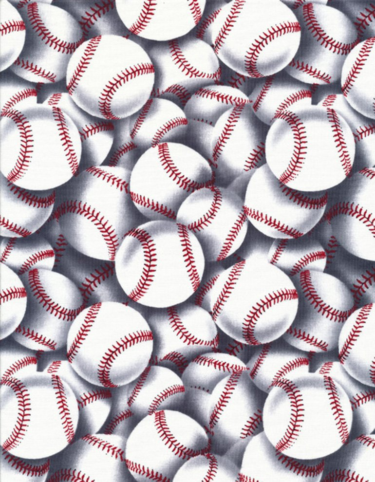 Baseball Fabric Sport C2159 Timeless Treasures