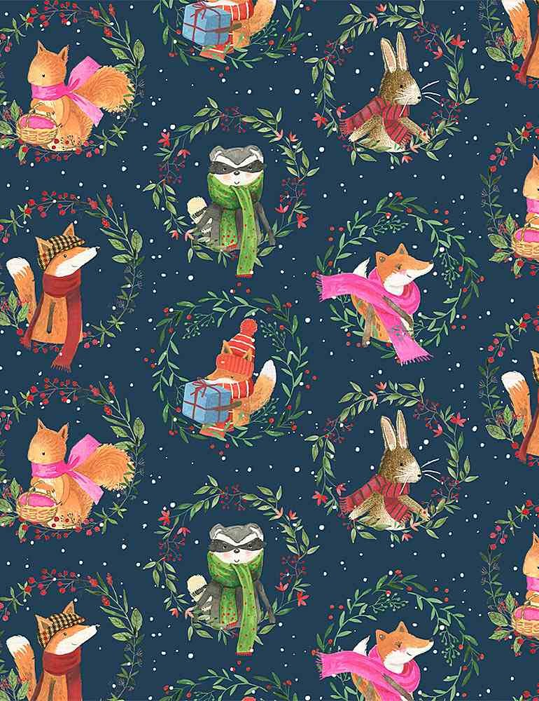 All Spruced Up D1824 Animal Wreaths by Rae Richie for Dear Stella Fabrics