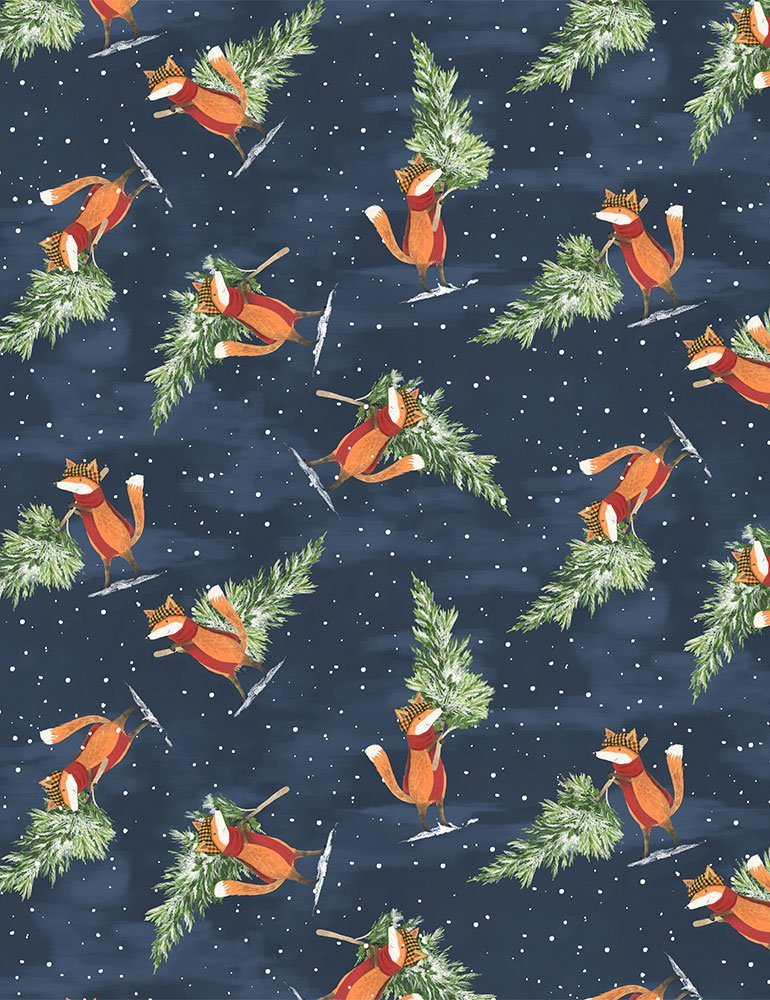 All Spruced Up D1825 Tree Shopping by Rae Richie for Dear Stella Fabrics