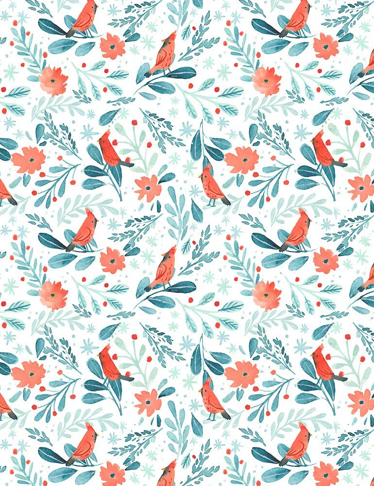 Baby, It's Cold Outside DCJ1834 Cardinals for Dear Stella Fabrics
