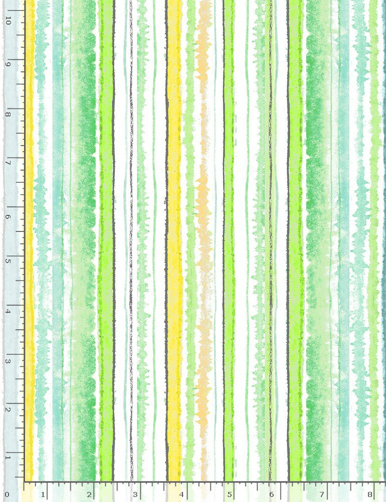 Spring Song STRIPE-CD8621 Green Watercolor Stripes from Timeless Treasures