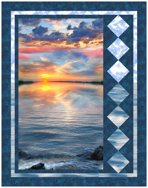 Sunset Sail Tranquility Quilt Kit