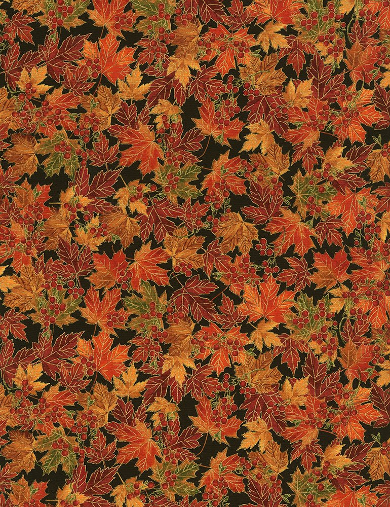 Harvest Leaves CM6141 Foliage by Timeless Treasures