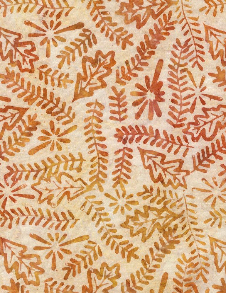 Batik Tonga Nature Hike B4181 Saffron Timeless Treasures