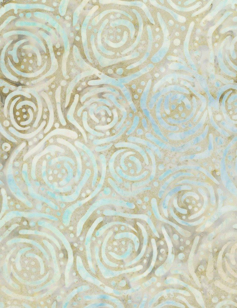 Batik Tonga Pebble B6949 Buff by Daniela Stout for Timeless Treasures