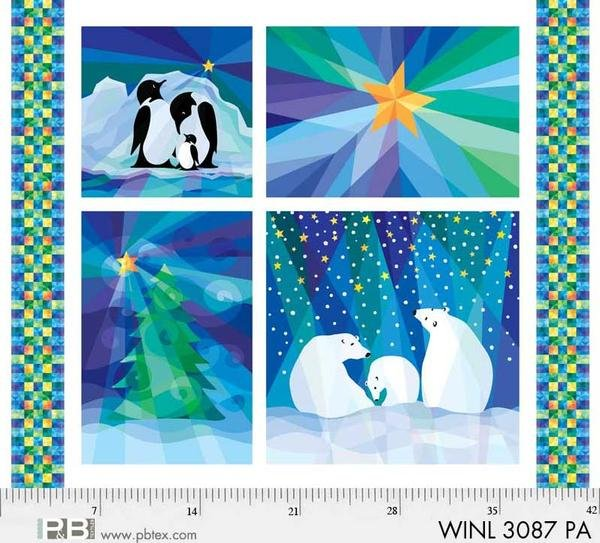 Winter Lights Panel WINL-3087-PA by Susan Rooney for P&B Textiles