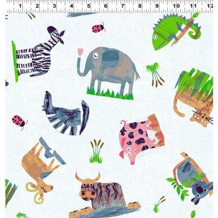 Animal Magic Y2891-55 Multi by Tracey English for Clothworks
