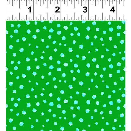Animal Magic Y2954-21 Green Dot by Tracey English for Clothworks