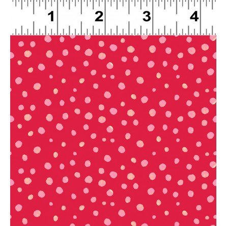 Animal Magic Y2954-40 Dark Coral Red Dot by Tracey English for Clothworks