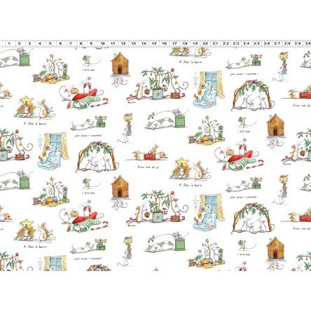Just What I Wanted Y2976-1 White by Anita Jeram for Clothworks