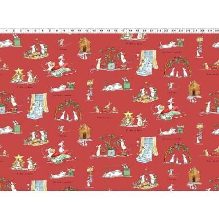 Just What I Wanted Y2976-4 Light Red by Anita Jeram for Clothworks