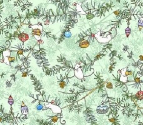 Just What I Wanted Y2977-109 Light Mint by Anita Jeram for Clothworks